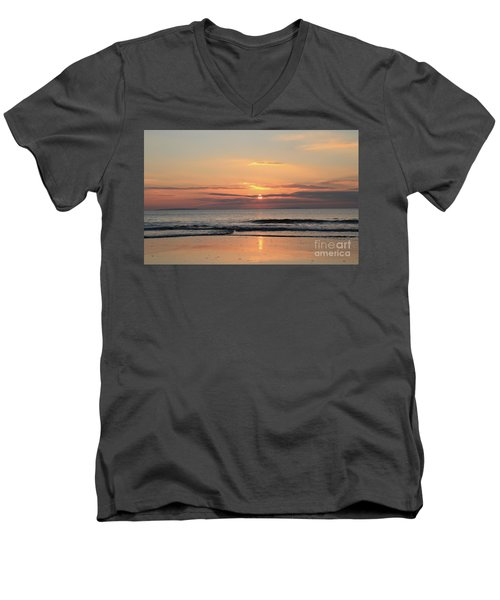 Fanore Sunset 3 Men's V-Neck T-Shirt