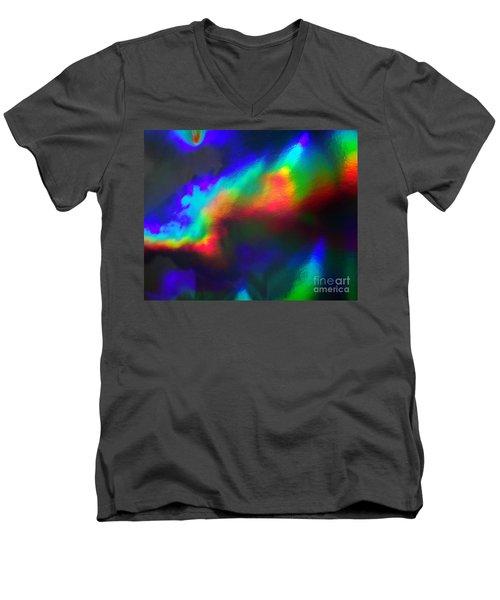 Heavenly Lights Men's V-Neck T-Shirt