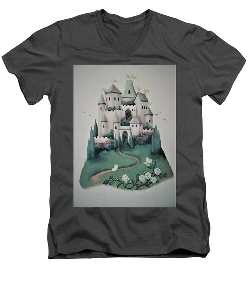 Fantasy Castle Men's V-Neck T-Shirt