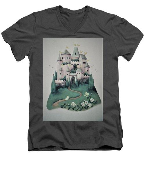 Fantasy Castle Men's V-Neck T-Shirt