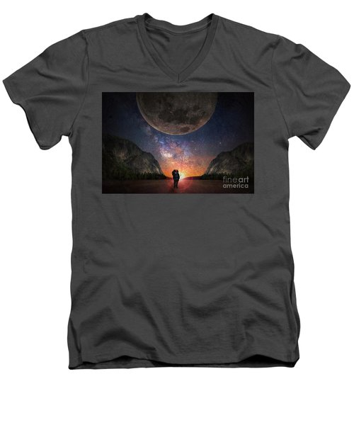 Fantasy Hike Men's V-Neck T-Shirt