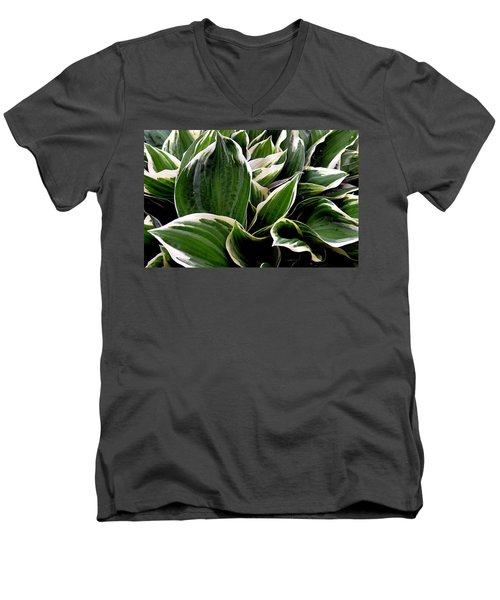 Fantasy In White And Green Men's V-Neck T-Shirt