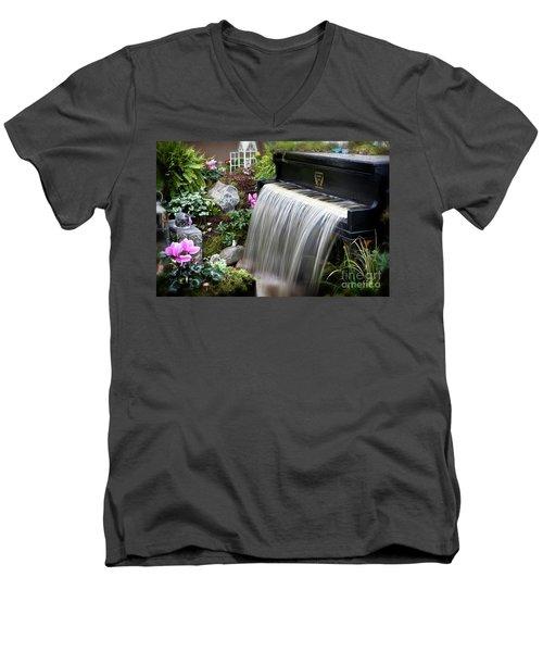 Fantasy Men's V-Neck T-Shirt by Nicki McManus