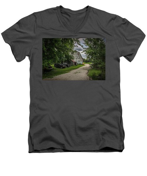 Farm Drive Men's V-Neck T-Shirt by Ray Congrove
