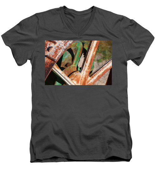 Men's V-Neck T-Shirt featuring the photograph Farm Equipment 2 by Ely Arsha