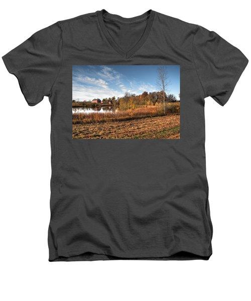 Farm Fall Colors Men's V-Neck T-Shirt