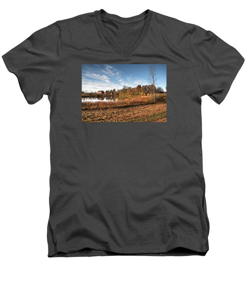 Farm Fall Colors Men's V-Neck T-Shirt