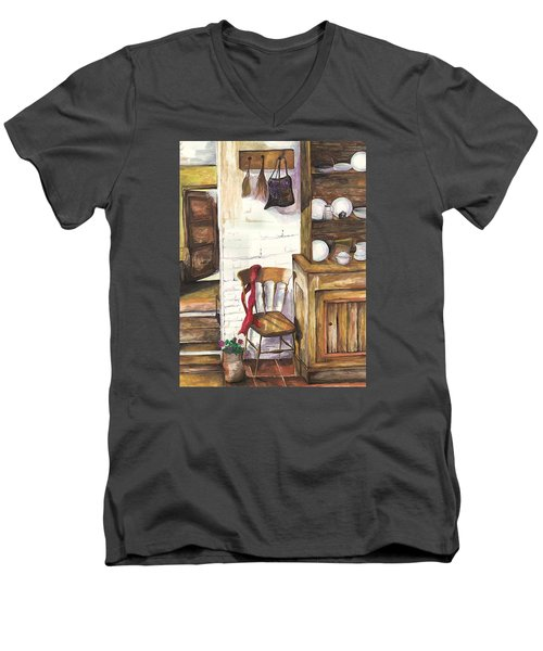 Farm House Men's V-Neck T-Shirt by Darren Cannell