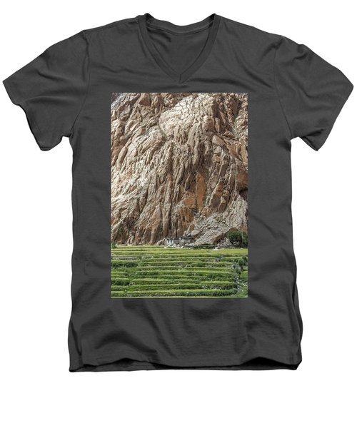 Farm House Men's V-Neck T-Shirt by Hitendra SINKAR