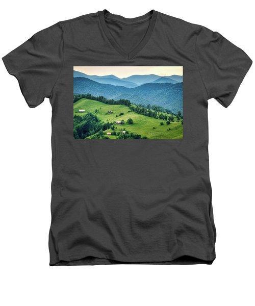 Farm In The Mountains - Romania Men's V-Neck T-Shirt