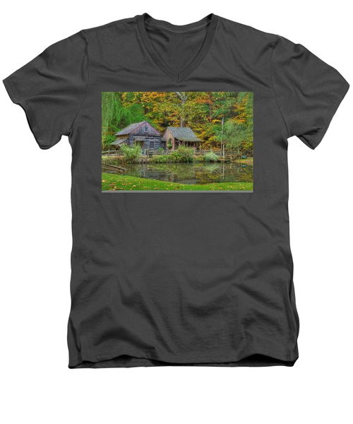 Farm In Woods Men's V-Neck T-Shirt