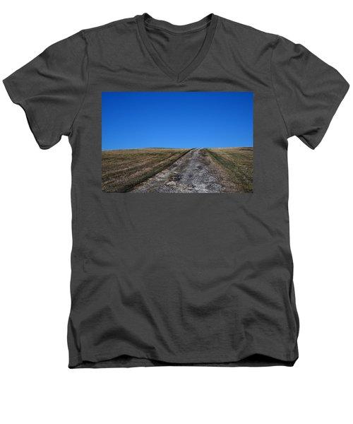 Farm Road - The Berkshires Men's V-Neck T-Shirt