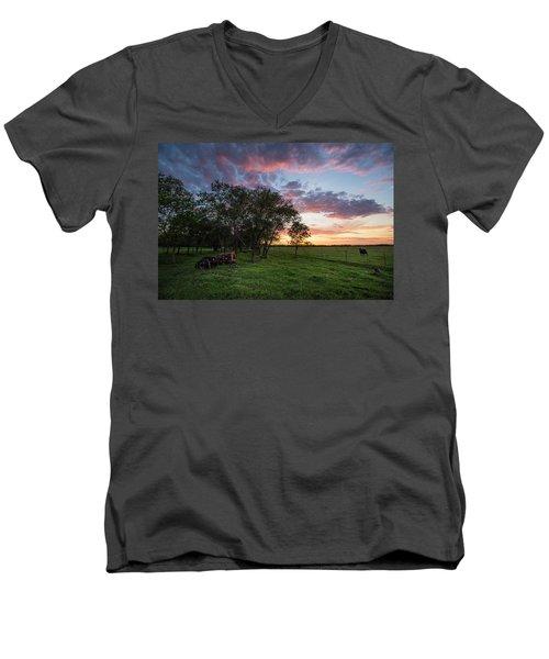 Farm View  Men's V-Neck T-Shirt