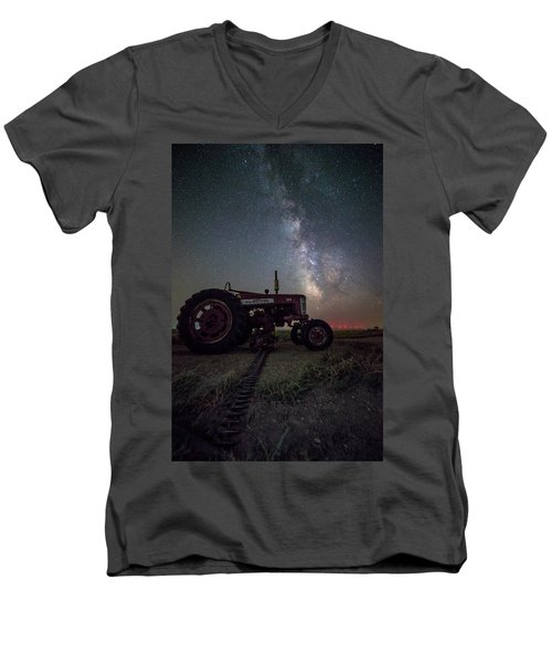 Men's V-Neck T-Shirt featuring the photograph Farmall by Aaron J Groen