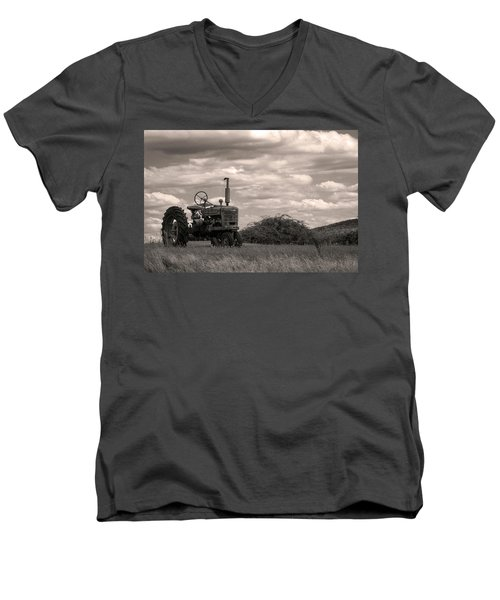 Men's V-Neck T-Shirt featuring the photograph Farmall by Michael Friedman