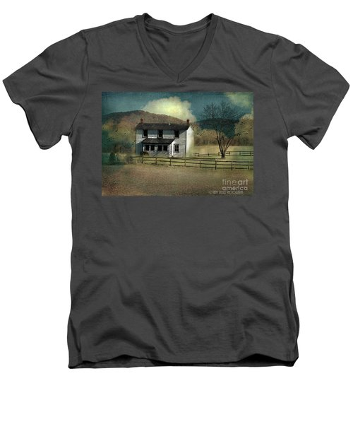 Farmhouse Men's V-Neck T-Shirt by Kathy Russell