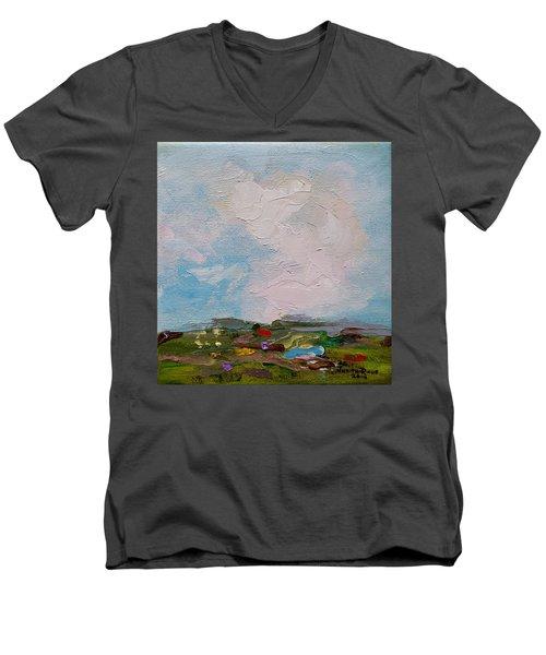 Farmland II Men's V-Neck T-Shirt by Judith Rhue