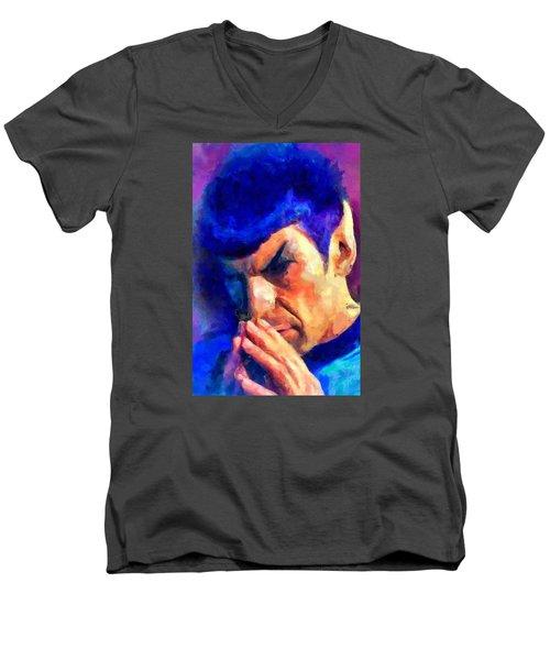 Fascinating Men's V-Neck T-Shirt