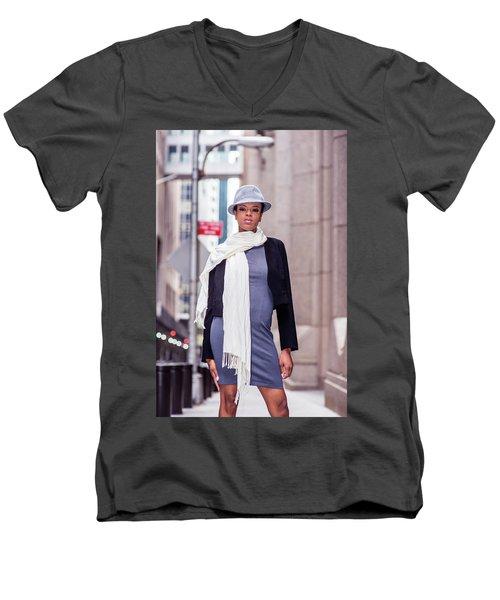 Fashion Girl Men's V-Neck T-Shirt