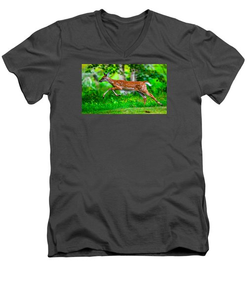 Fast Fawn 2 Men's V-Neck T-Shirt