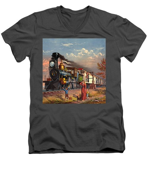 Fast Mail 1875 Men's V-Neck T-Shirt