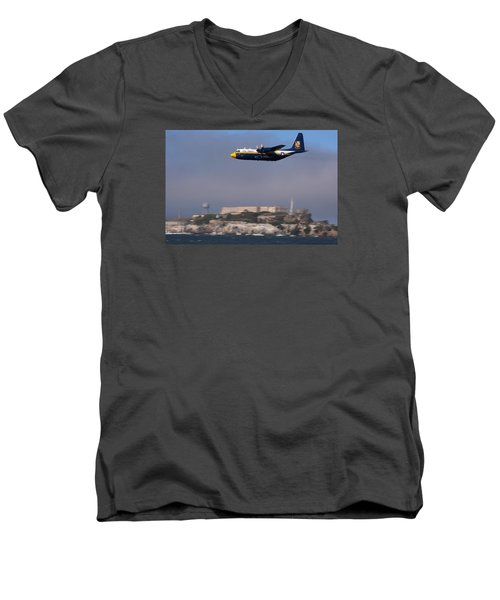 Fat Albert Buzzes The San Francisco Bay Men's V-Neck T-Shirt