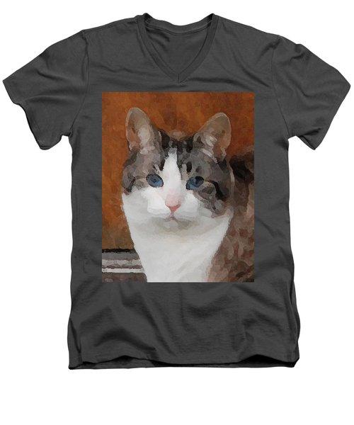 Fat Cats Of Ballard 3 Men's V-Neck T-Shirt