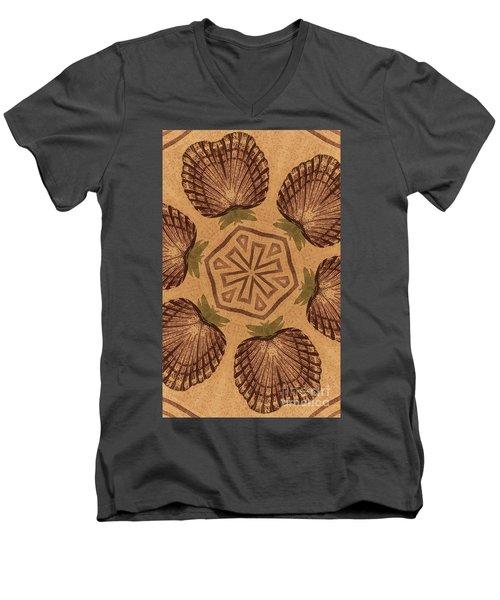 Fat Pineapple And Star Men's V-Neck T-Shirt