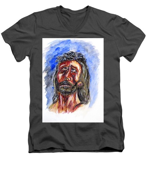 Father Forgive Them Men's V-Neck T-Shirt