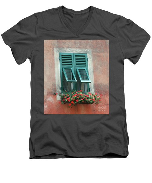 Faux  Painting Window  Men's V-Neck T-Shirt