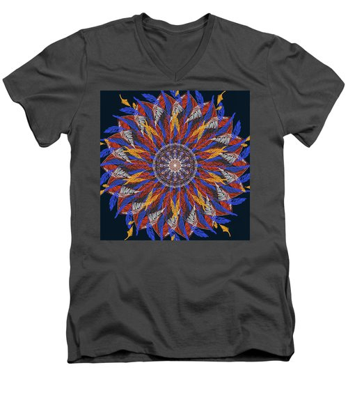Feather Mandala Iv Men's V-Neck T-Shirt