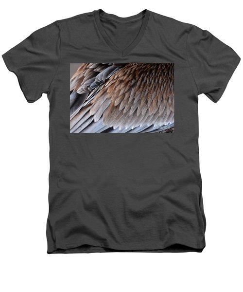 Feathers Cascade Men's V-Neck T-Shirt