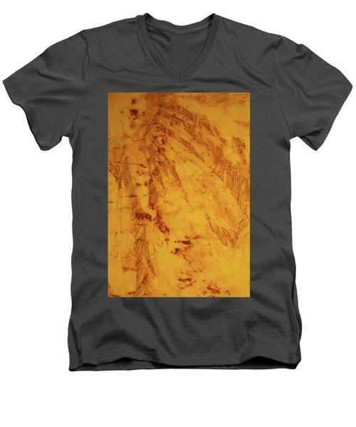 Feathers On The Wind Men's V-Neck T-Shirt by Cynthia Powell