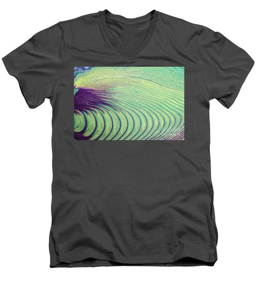 Feathery Ripples Men's V-Neck T-Shirt by Julie Clements