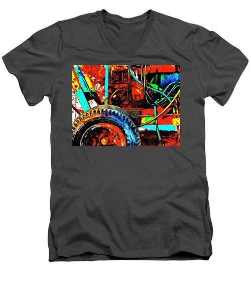 Feb 2016 46 Men's V-Neck T-Shirt by George Ramos