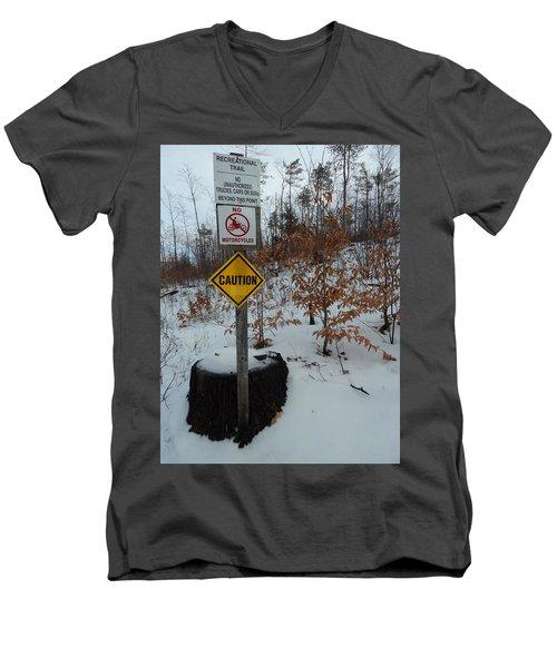 Feb 2016 50 Men's V-Neck T-Shirt by George Ramos