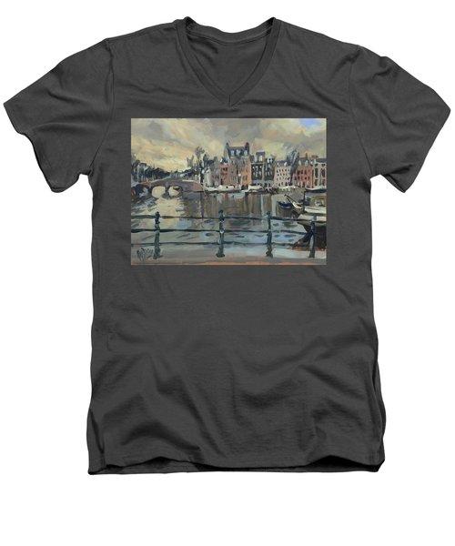 February Morning Along The Amstel Men's V-Neck T-Shirt