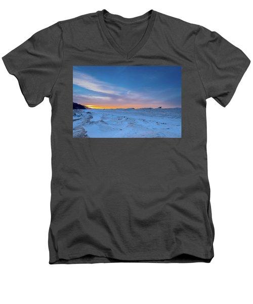 February Sunset Men's V-Neck T-Shirt