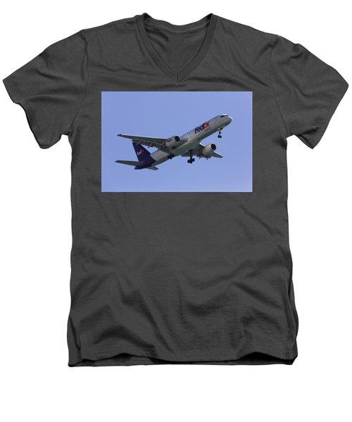 Fedex 757  Men's V-Neck T-Shirt