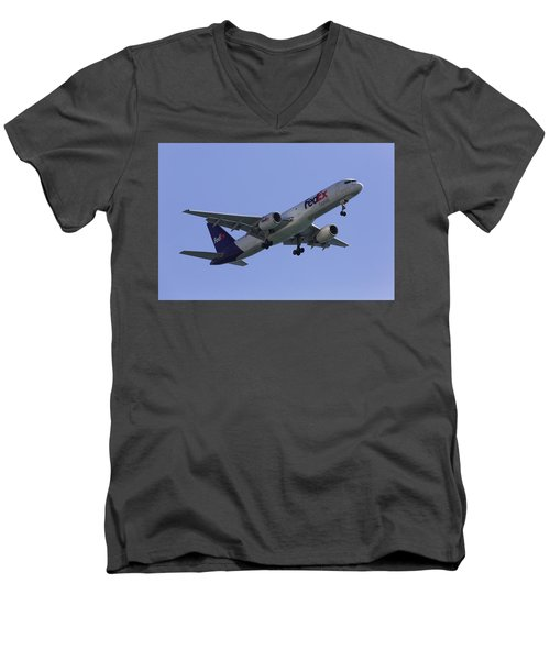 Fedex 757  Men's V-Neck T-Shirt