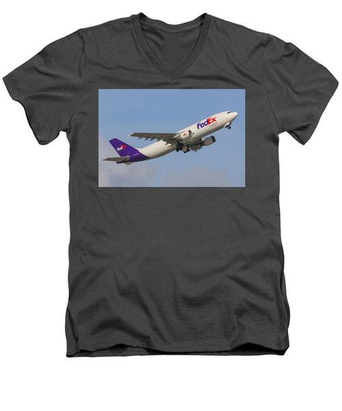 Fedex Airplane Men's V-Neck T-Shirt