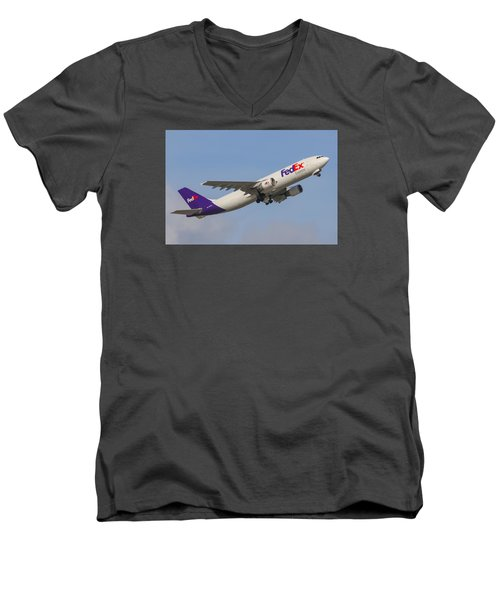 Fedex Airplane Men's V-Neck T-Shirt