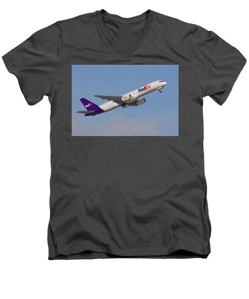 Fedex Jet Men's V-Neck T-Shirt