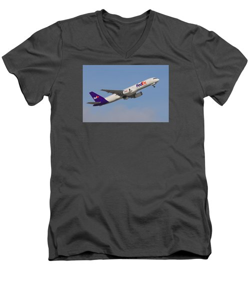 Fedex Jet Men's V-Neck T-Shirt