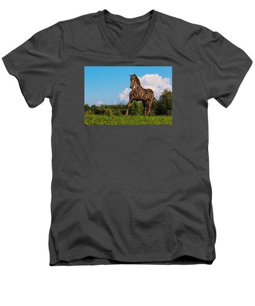 Feed Me Apples Men's V-Neck T-Shirt