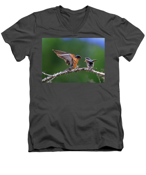 Men's V-Neck T-Shirt featuring the photograph Feed Me by William Lee