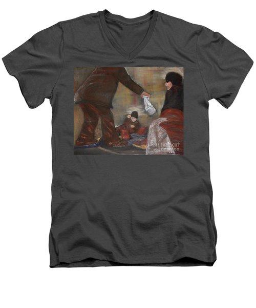 Feeding The Hungry Men's V-Neck T-Shirt
