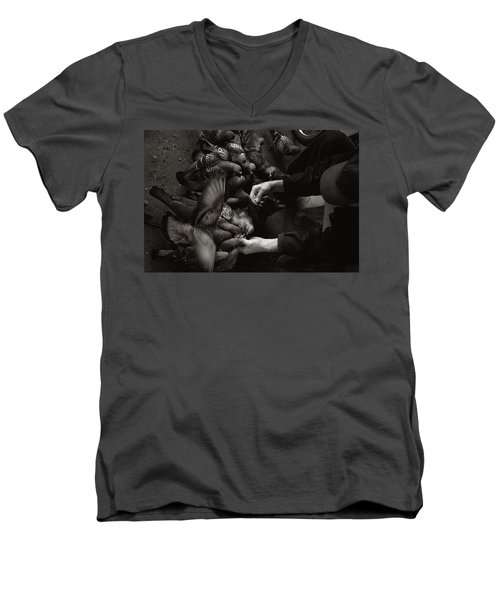 Feeding The Pigeons Men's V-Neck T-Shirt
