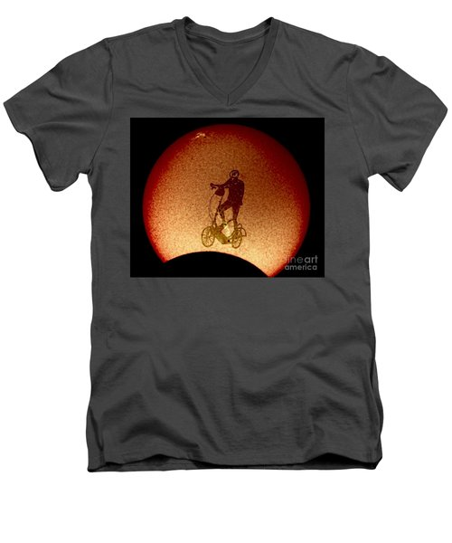 Feel The Burn, Elliptigo Eclipse Men's V-Neck T-Shirt