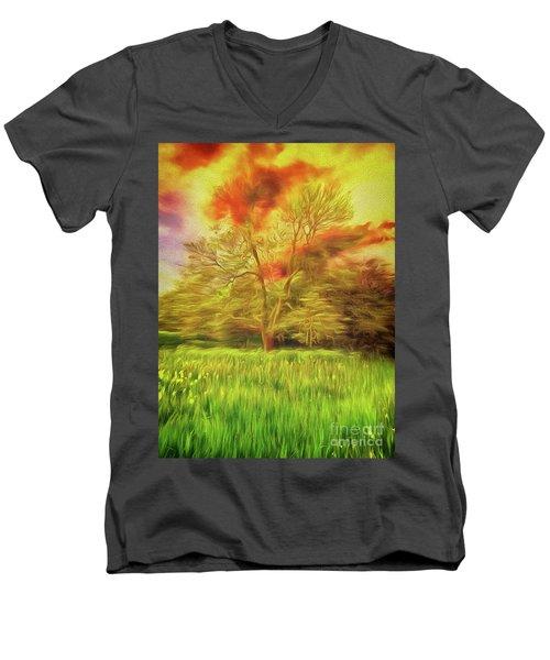 Feel The Love Men's V-Neck T-Shirt